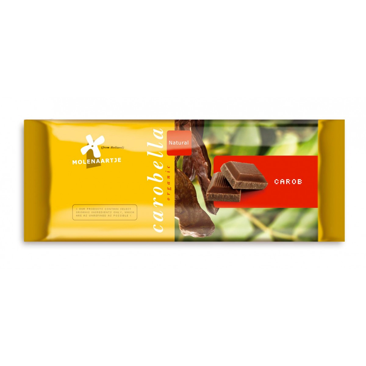 Carobe Tablet Naturel 100 gram
