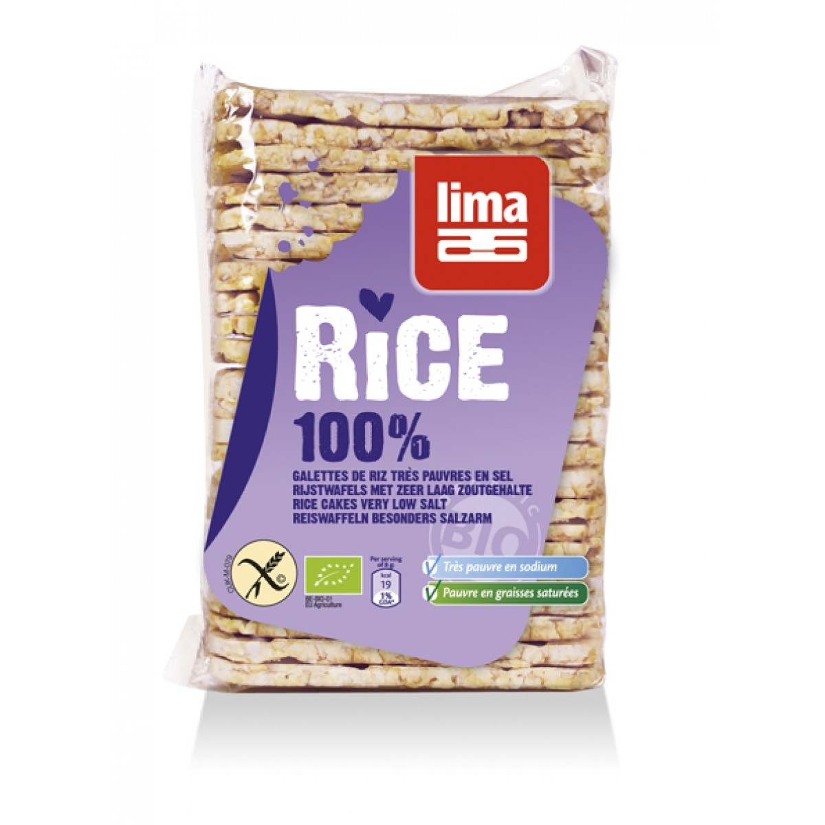 Rijstwafels Met Zeer Laag Zoutgehalte