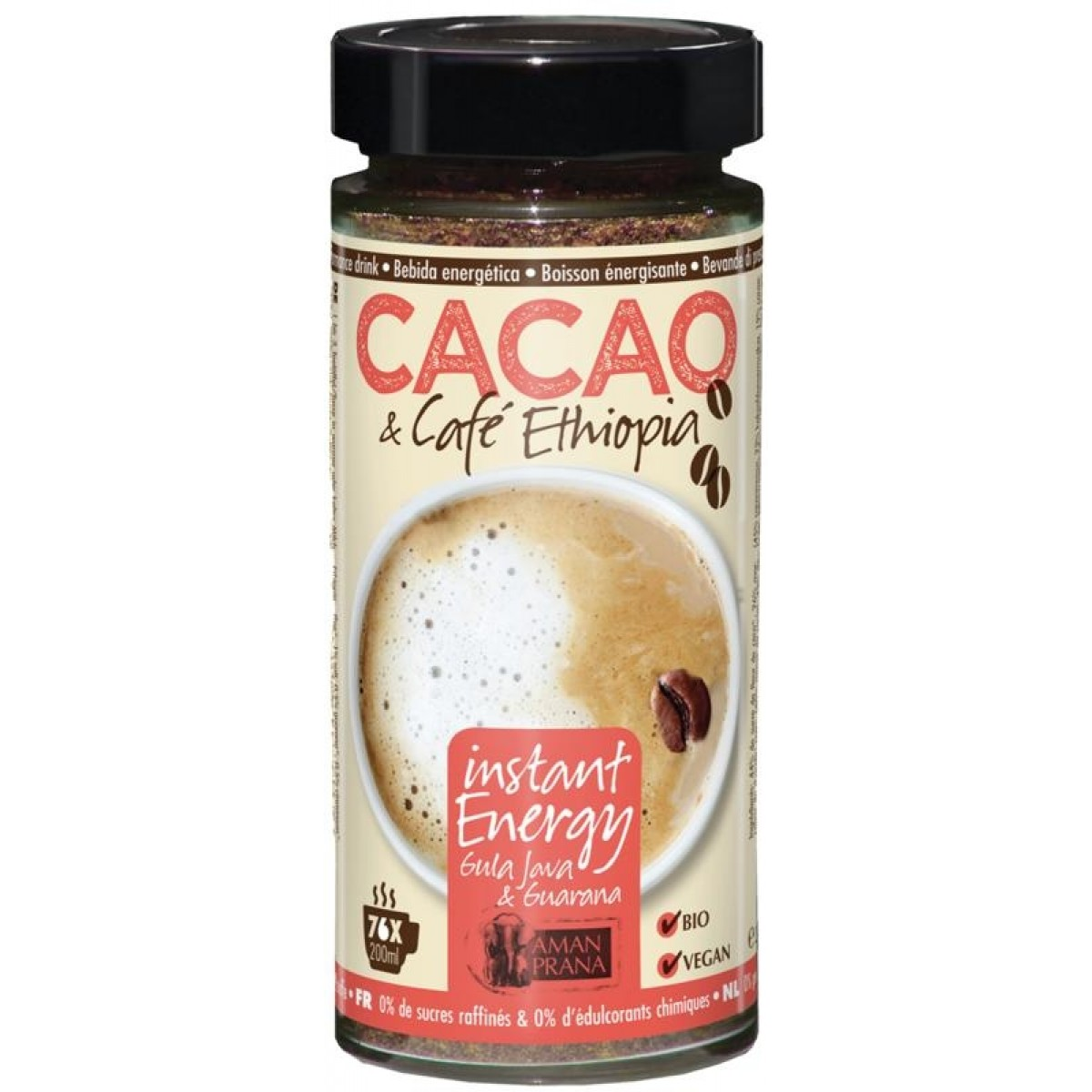 Instant Energy Cacao & Cafe Ethiopia