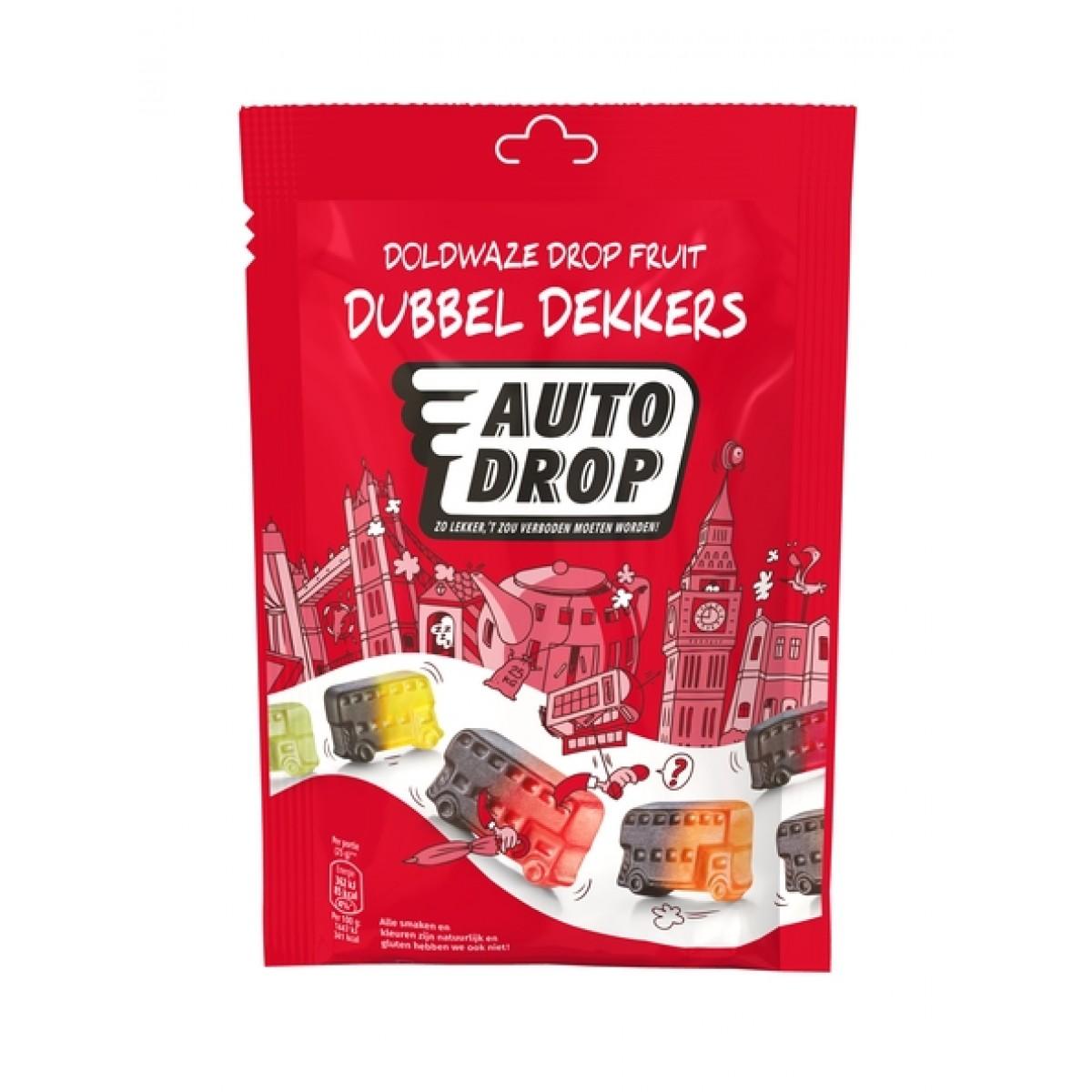 Drop Fruit Dubbel Dekkers Zakje 180 gram