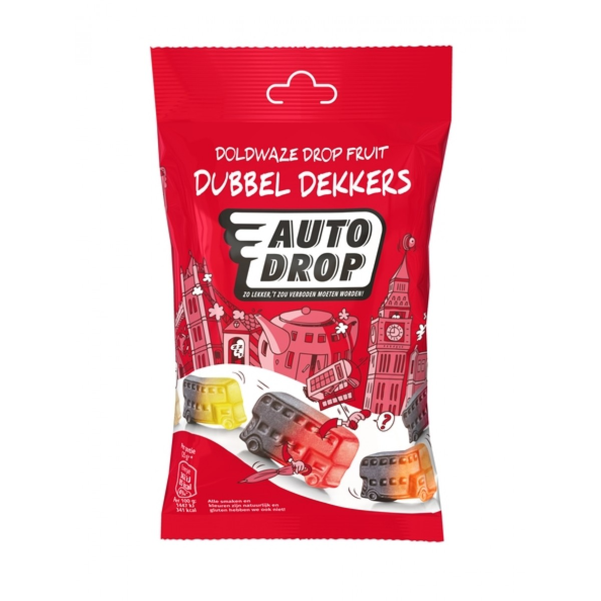 Drop Fruit Dubbel Dekkers Zakje 85 gram