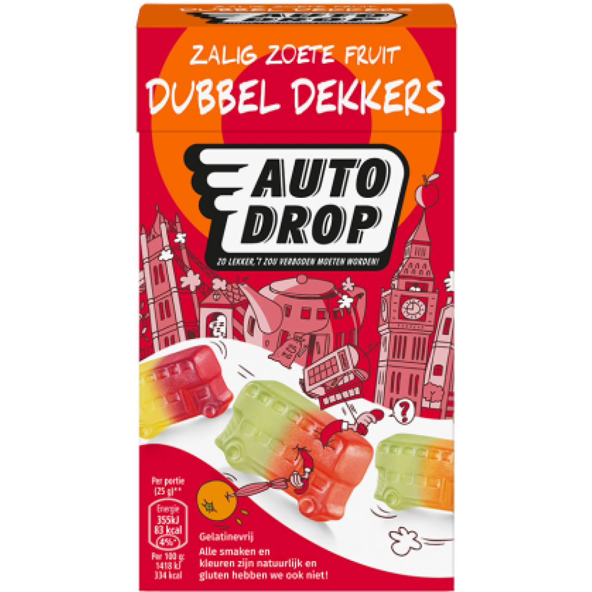Zoete Fruit Dubbel Dekkers Mixdoos