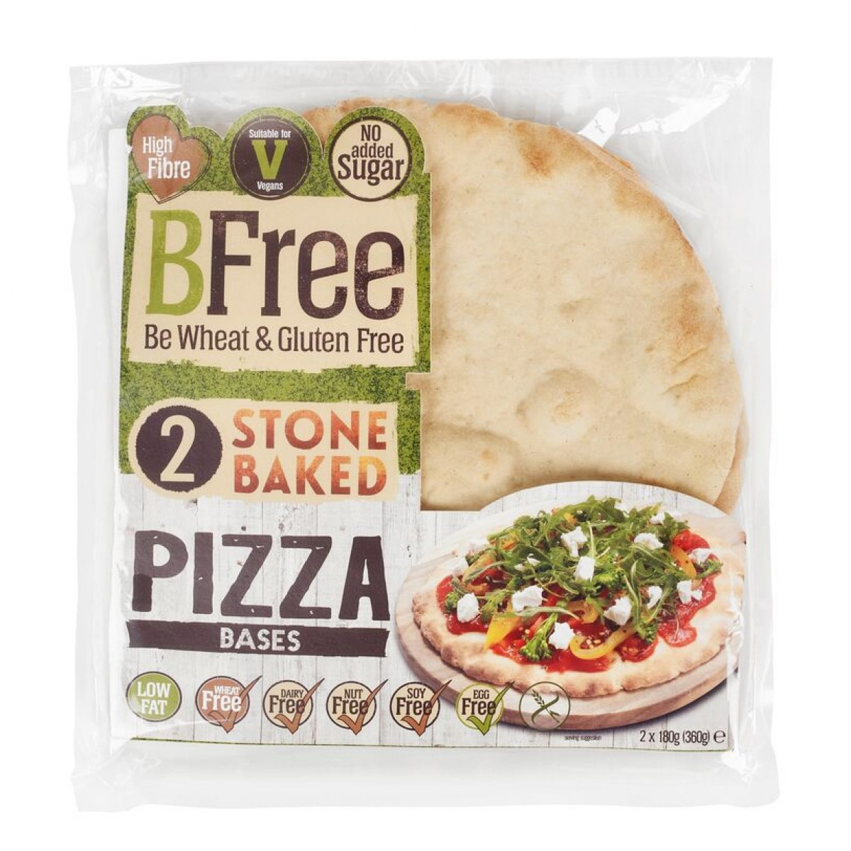Pizzabodems Stone Baked (2 stuks)