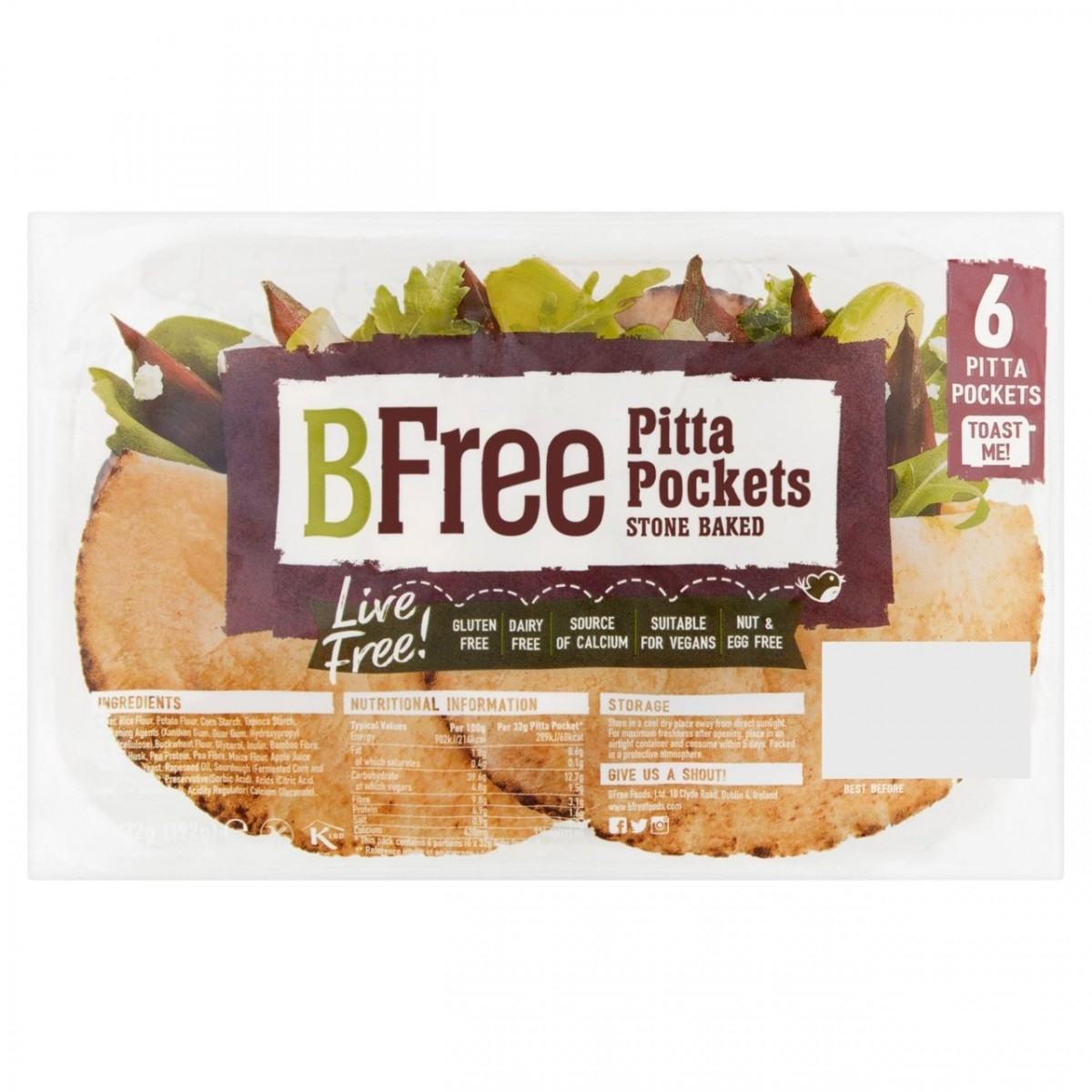 Pitabroodjes Pocket (6 stuks)