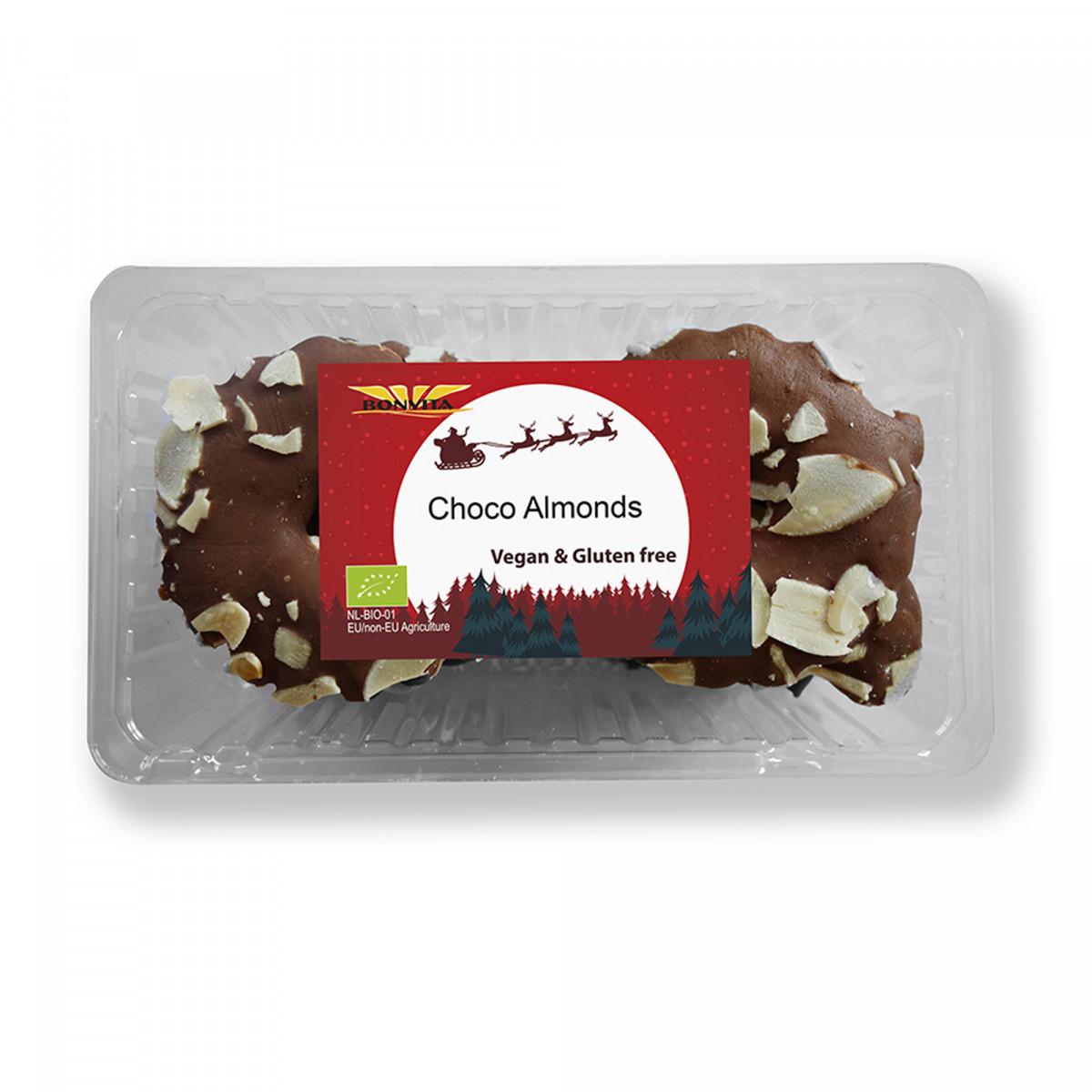 Vegan Kerstkransjes Choco Amandel