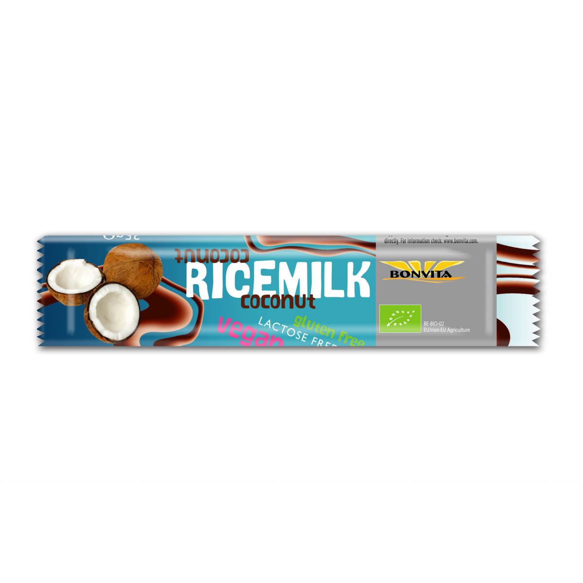 Rijstmelk Chocoladereep Met Kokos