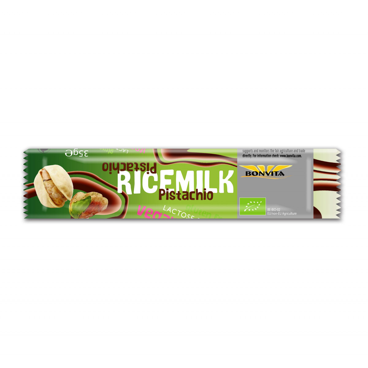 Rijstmelk Chocoladereep Met Pistache