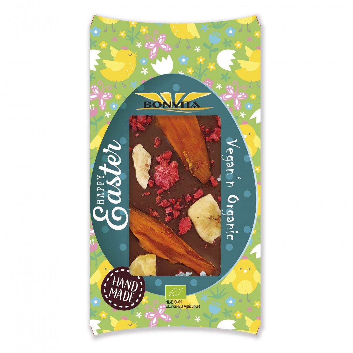 Vegan Chocoladetablet Banaan Mango & Framboos