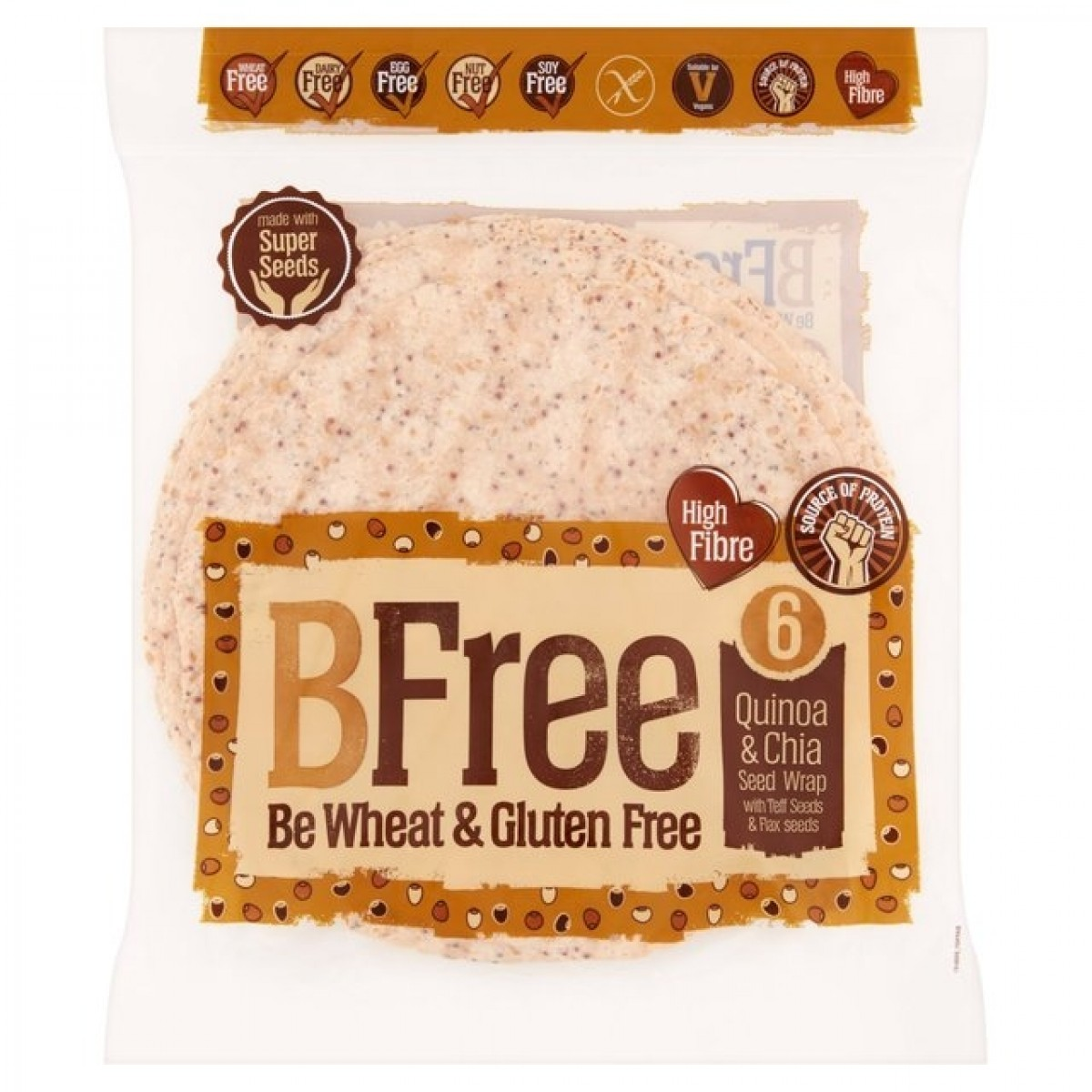 Quinoa & Chia Zaad Wrap (6 stuks)