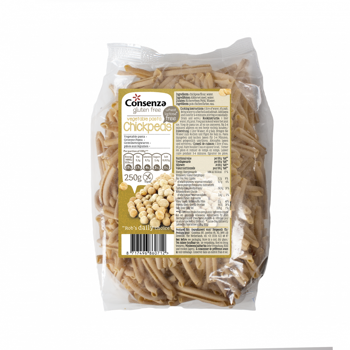 Kikkererwten Pasta