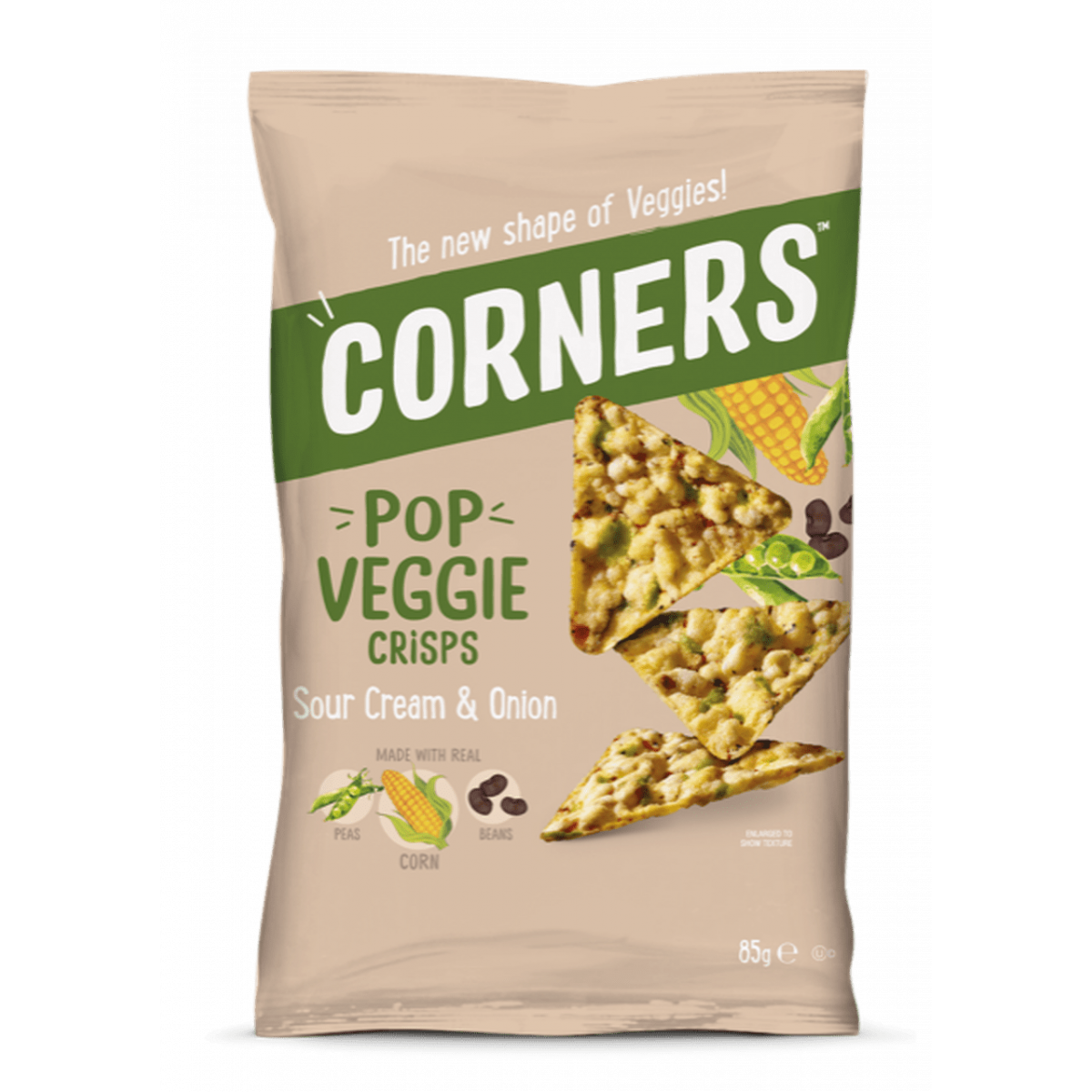 Pop Veggie Crisps Sour Cream & Onion
