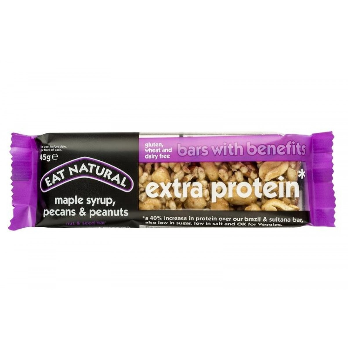 Extra Protein Maple Syrup, Pecan & Peanuts