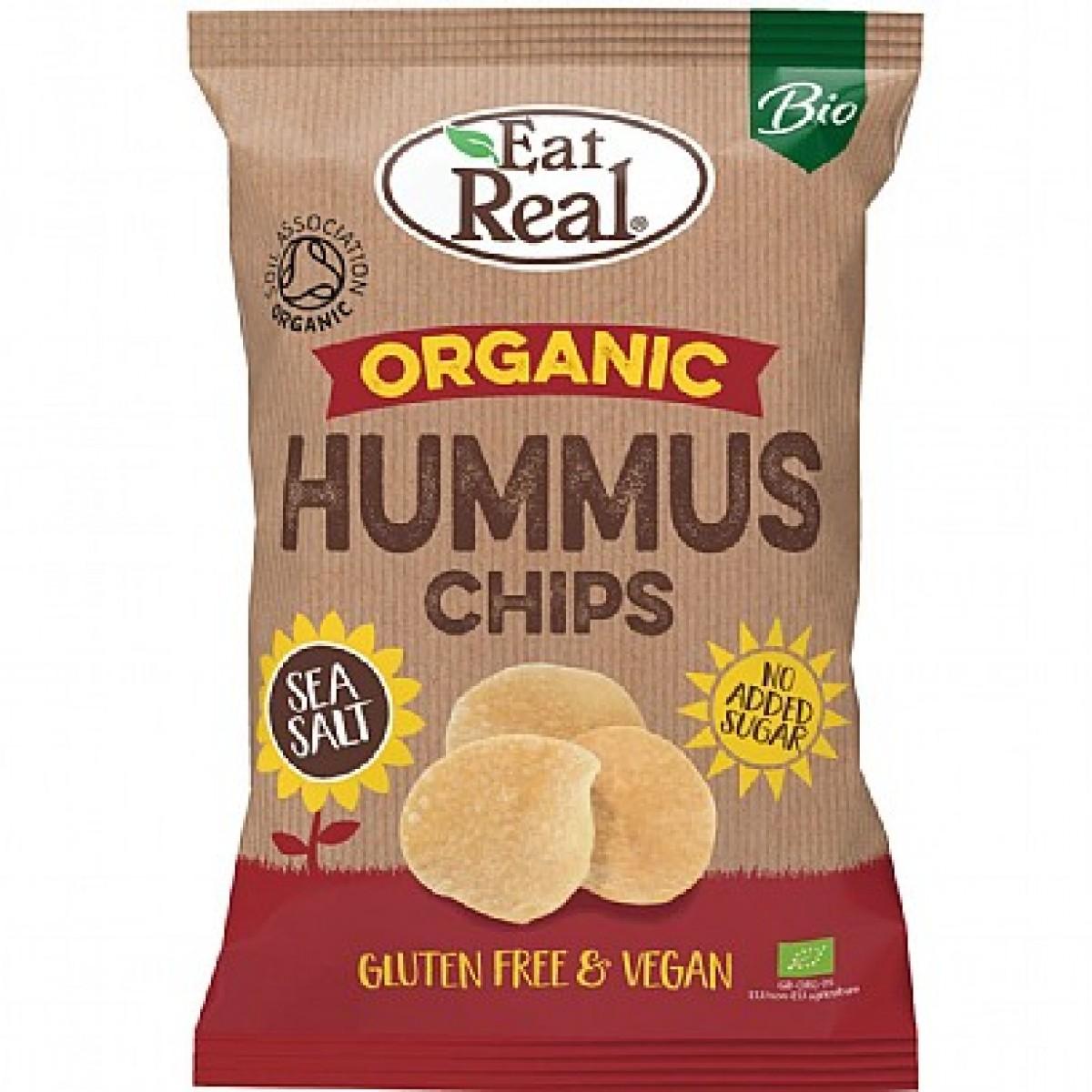 Biologische Hummus Chips Zeezout