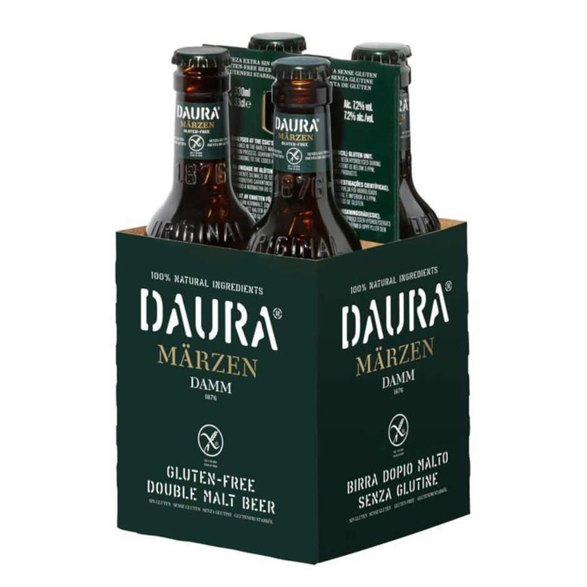 Estrella Daura Damm Dubbel Malt Bier 4-pack