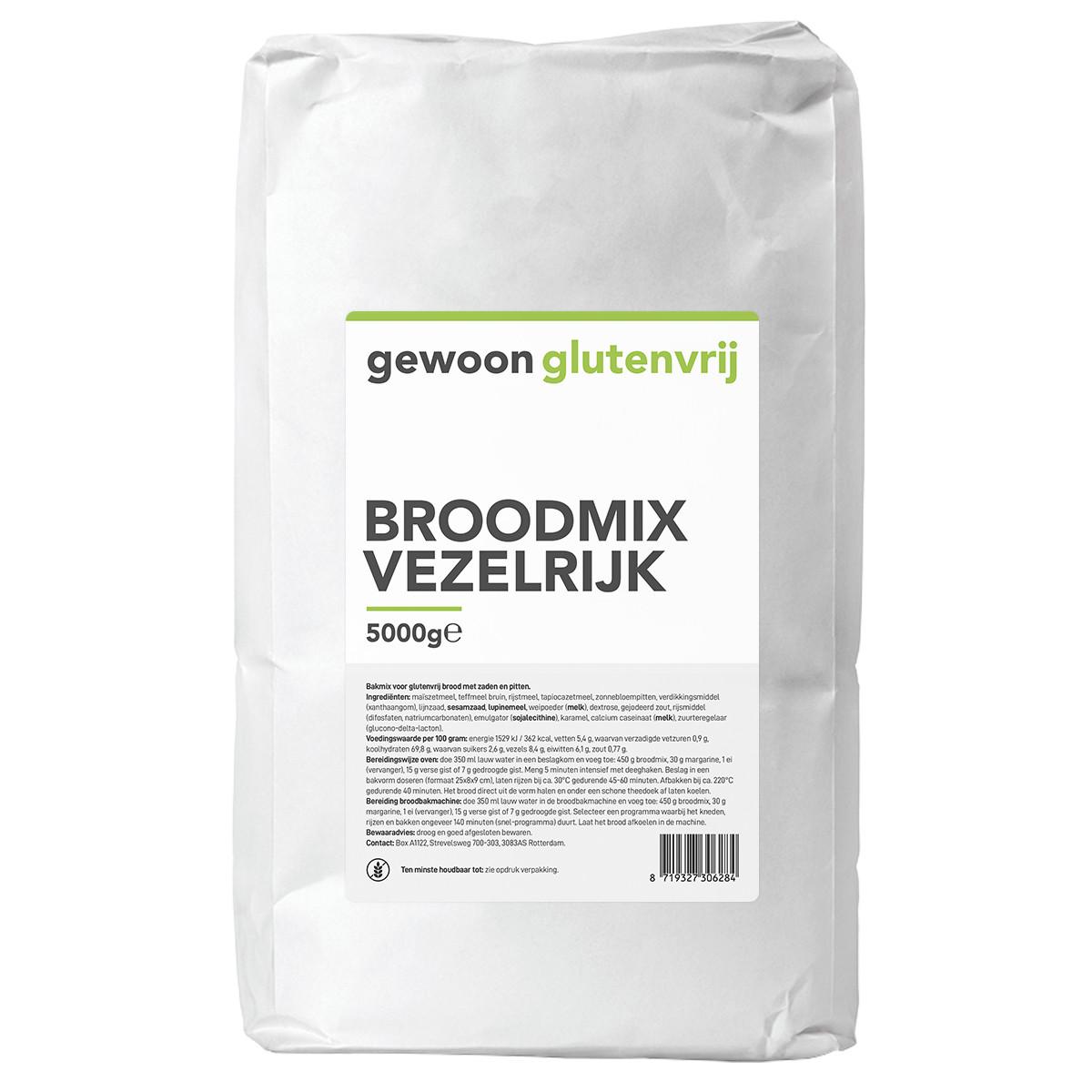 Broodmix Vezelrijk 5 kilo