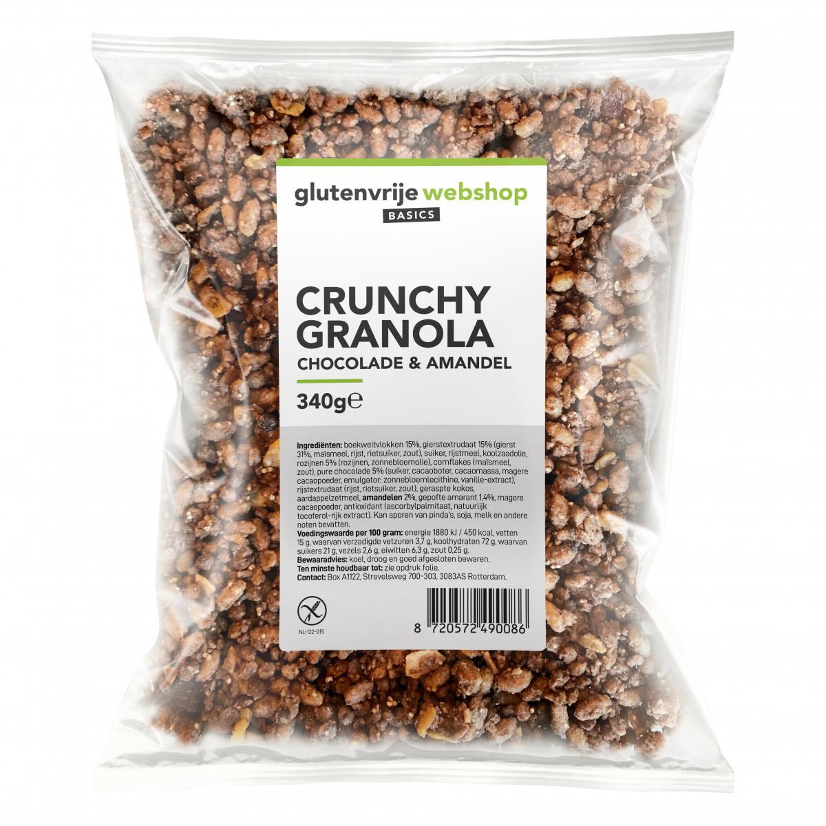 Crunchy Granola Chocolade & Amandel