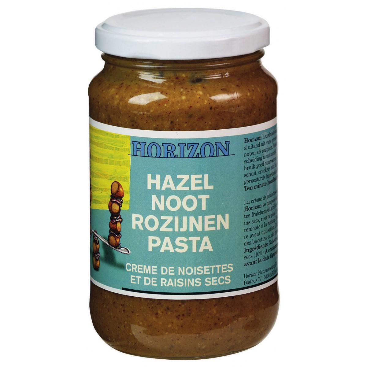 Hazelnoot-Rozijnenpasta