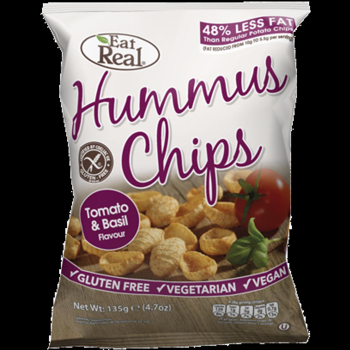 Hummus Chips Tomaat & Basilicum