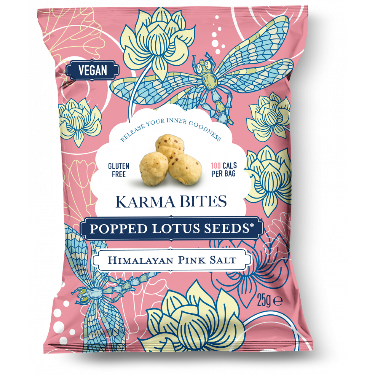 Popped Lotus Seeds Himalayan Pink Salt