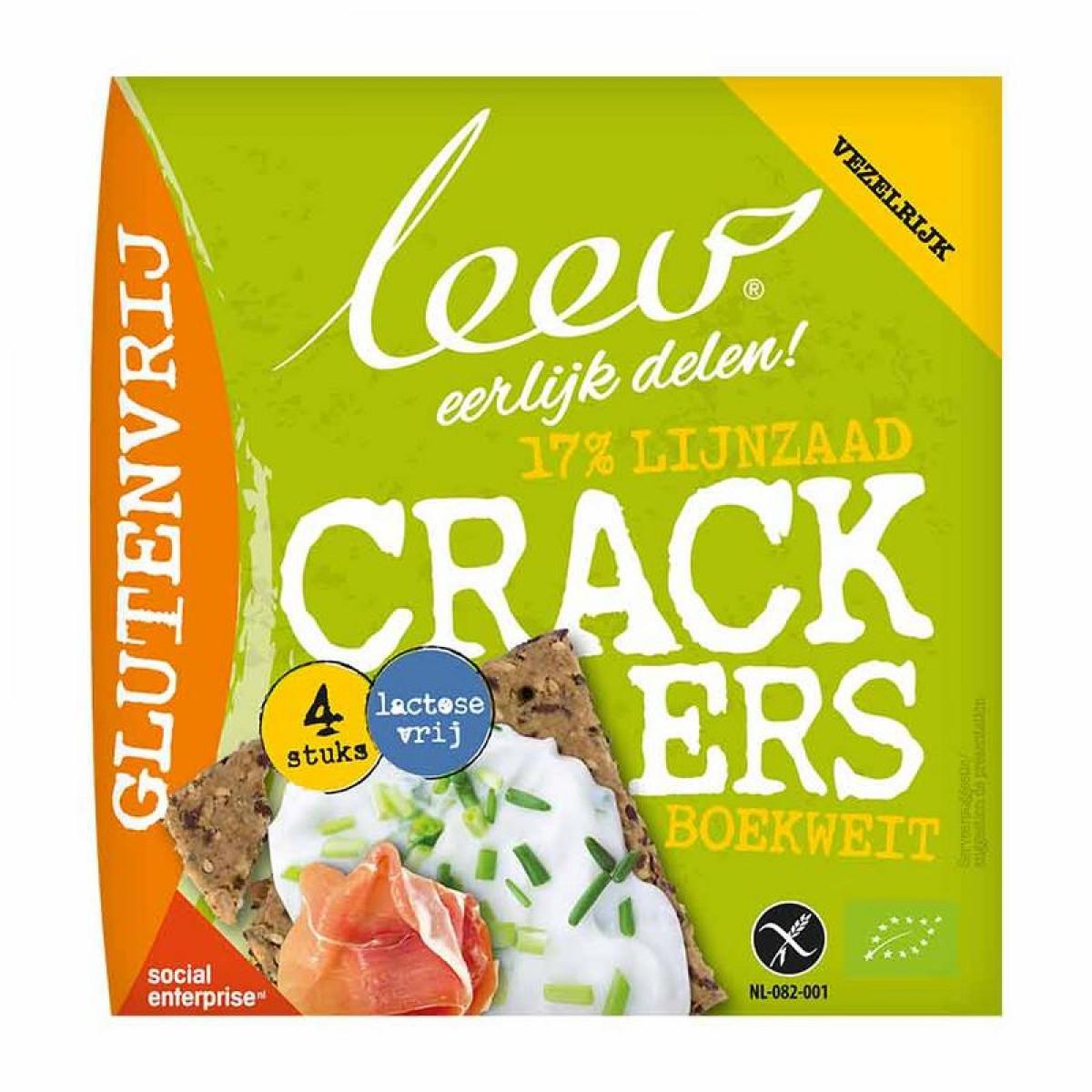 Lijnzaad Cracker Vezelrijk Met Boekweit