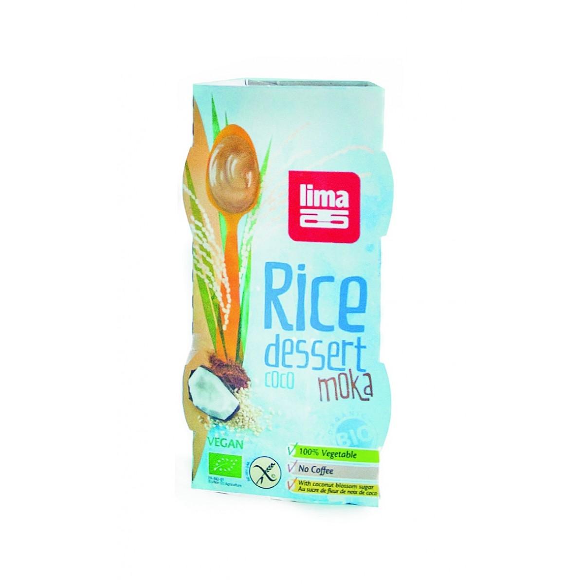 Rijstdessert Kokos Met Mokkasmaak