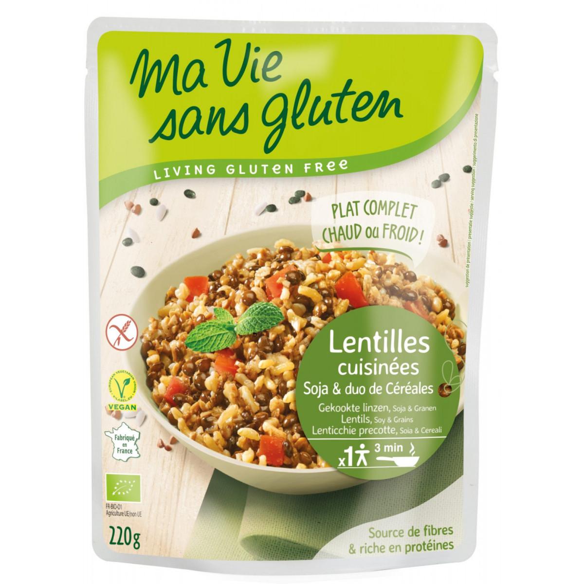 Gekookte Linzen Met Soja & Granen