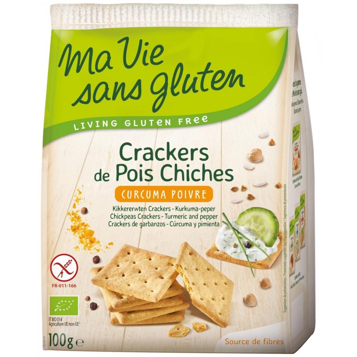 Kikkererwten Crackers Kurkuma Peper