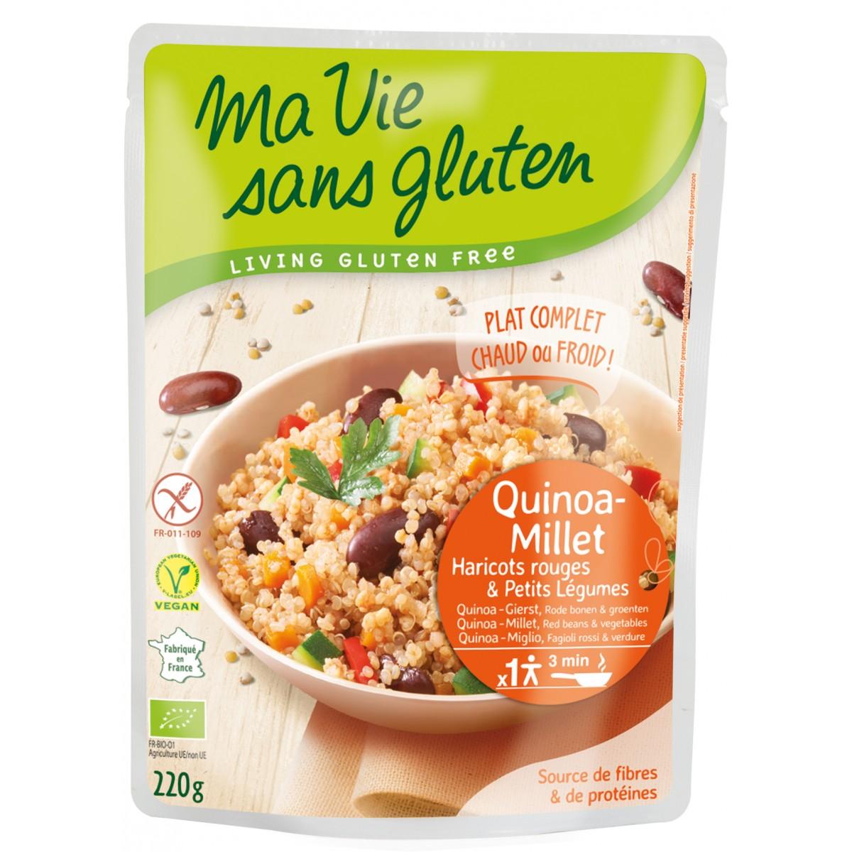Quinoa, Gierst Met Rode Bonen & Groenten