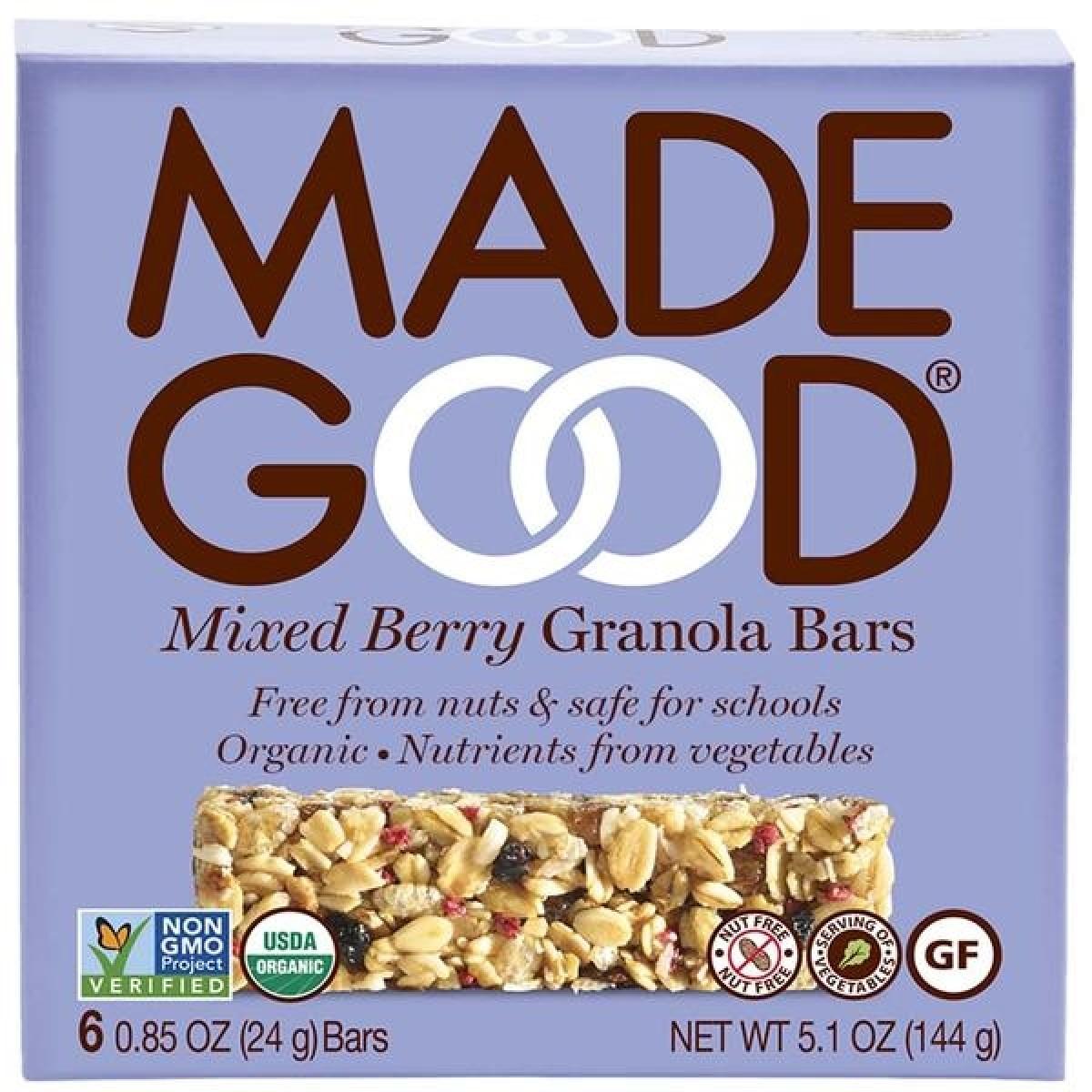 Granola Bars Mixed Berry