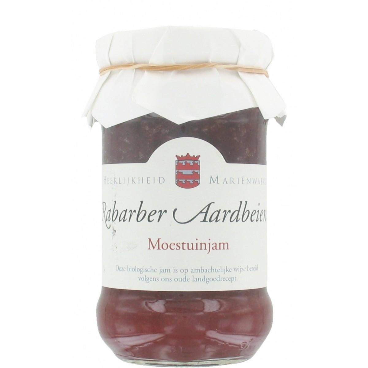 Moestuinjam Rabarber Aardbeien