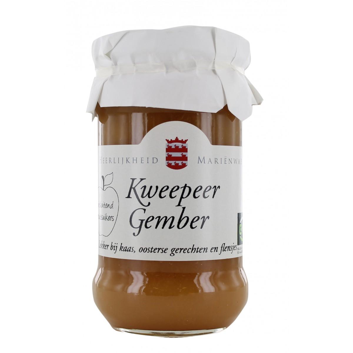 Vruchtenspread Kweepeer & Gember