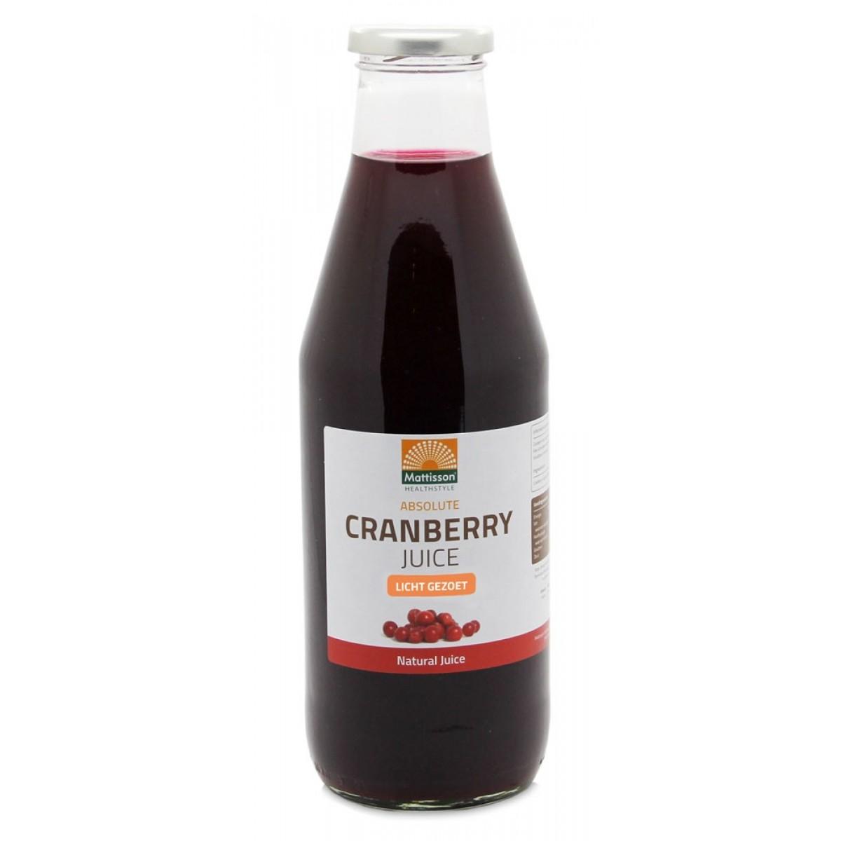 Cranberry Sap Licht Gezoet