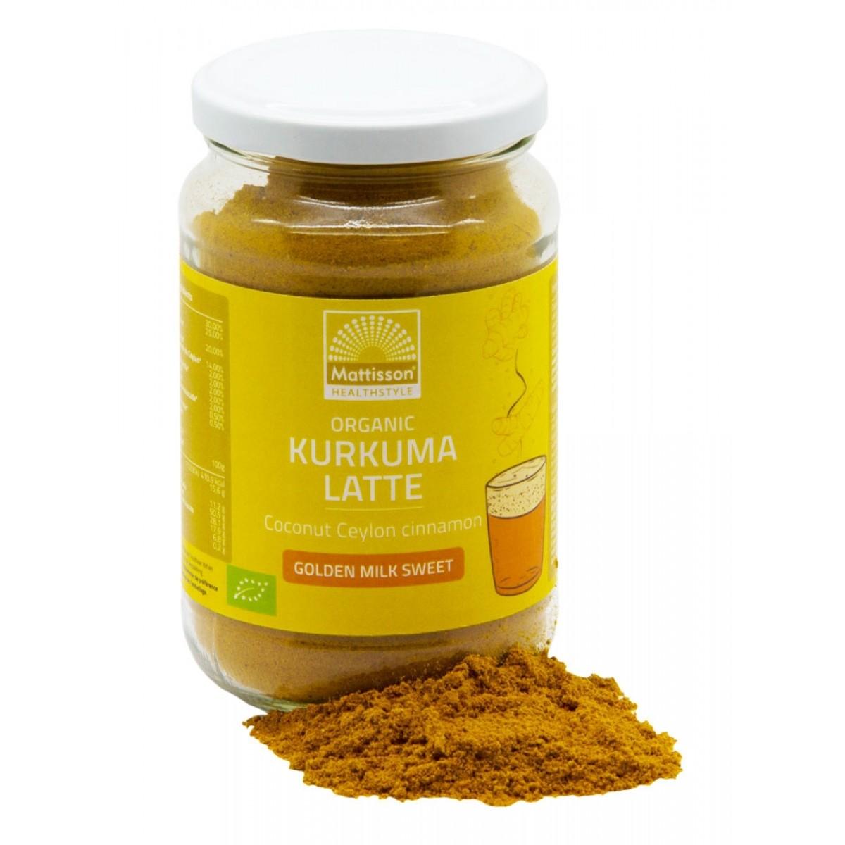 Kurkuma Latte Goldenmilk Gezoet Ceylon Kaneel - Kokos