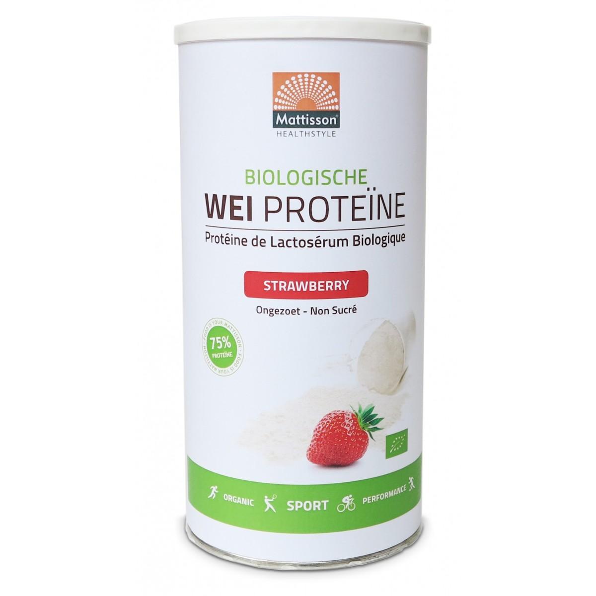 Wei Proteïne Aardbei Biologisch