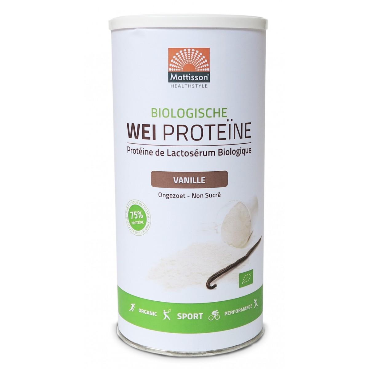 Wei Proteïne Vanille Biologisch
