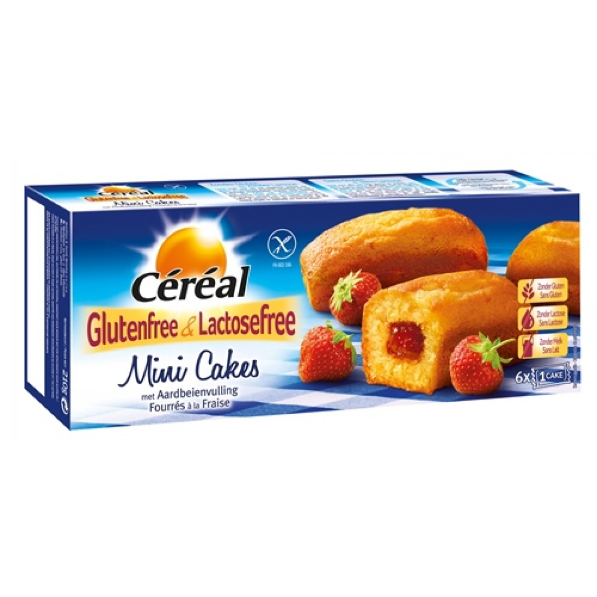 Mini Cakes Met Aardbeienvulling