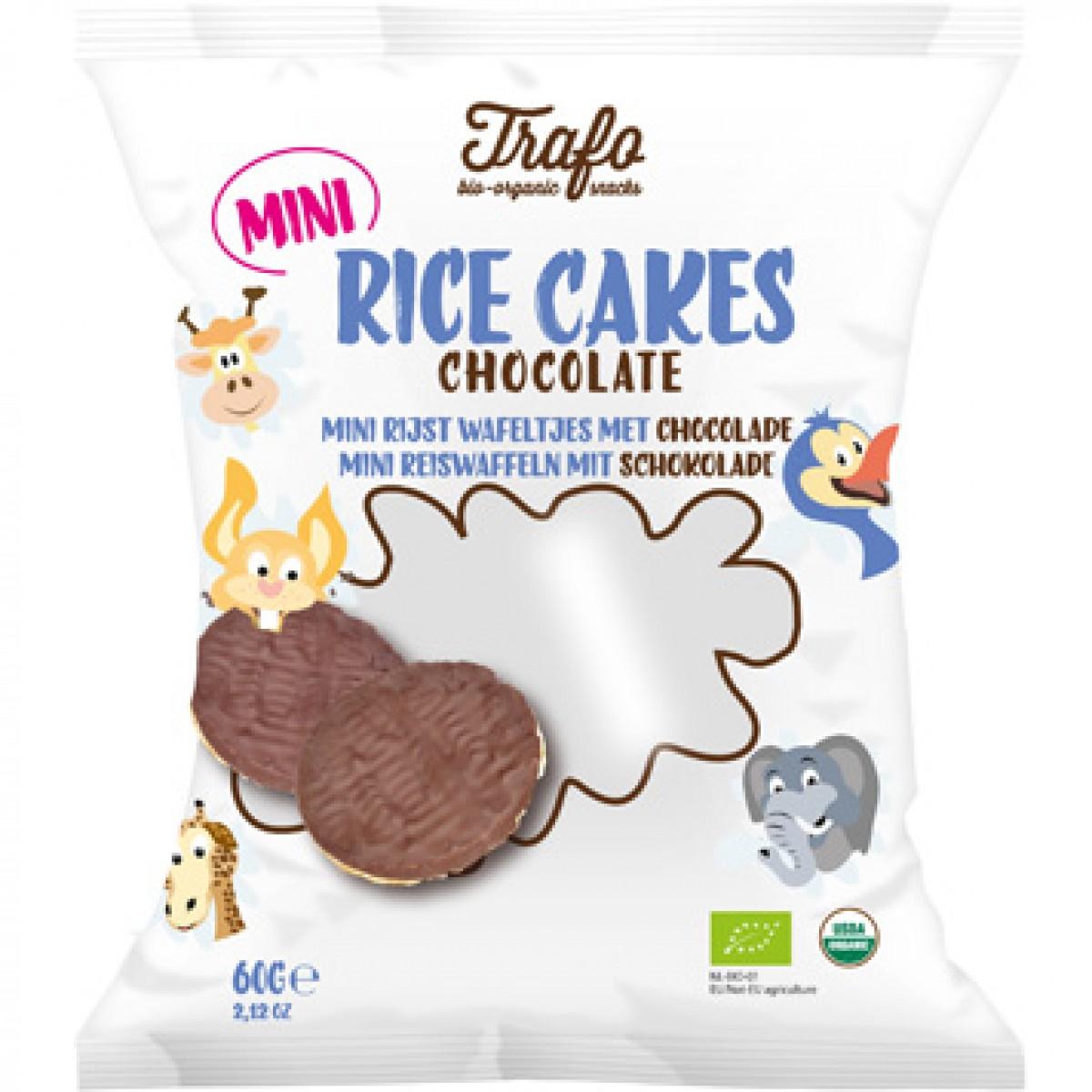 Mini Rijstwafeltjes Met Chocolade