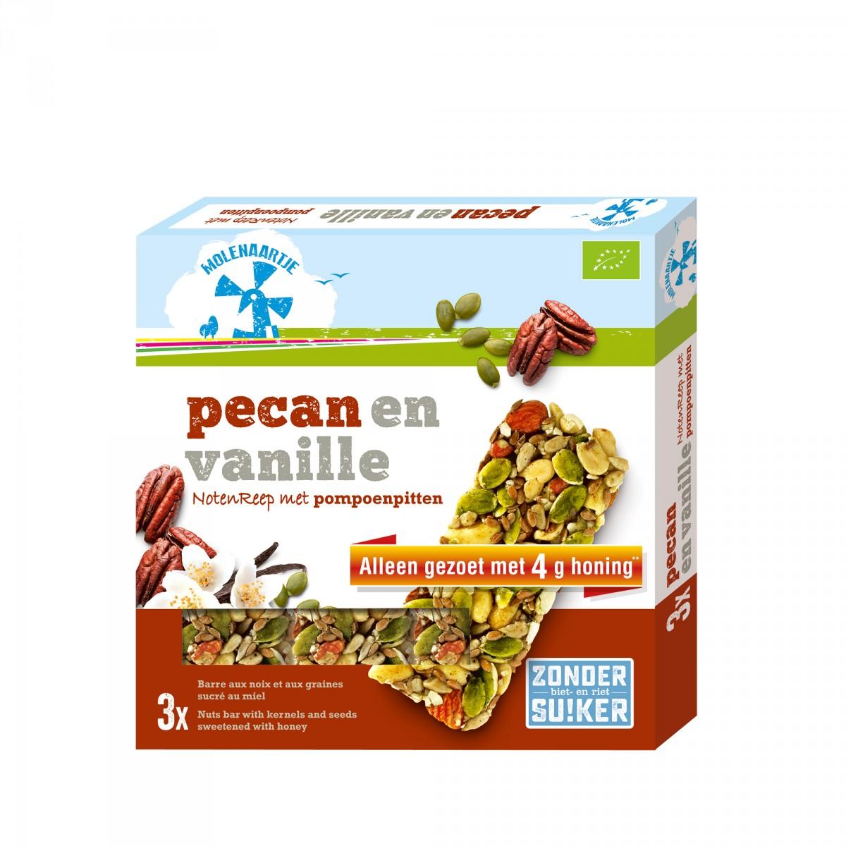 Notenreep Pecan & Vanille Met Pompoenpitten