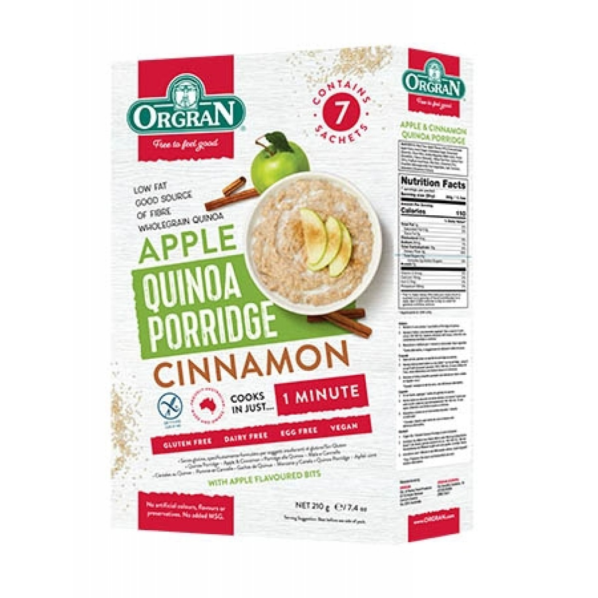 Quinoa Porridge Appel & Cinnamon