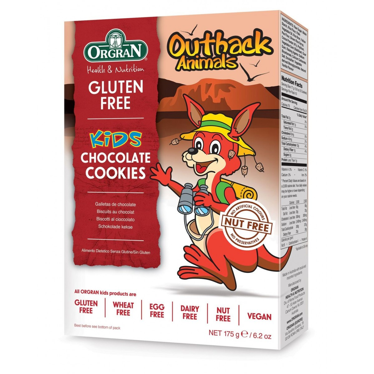 Outback Animals Chocolate Cookies