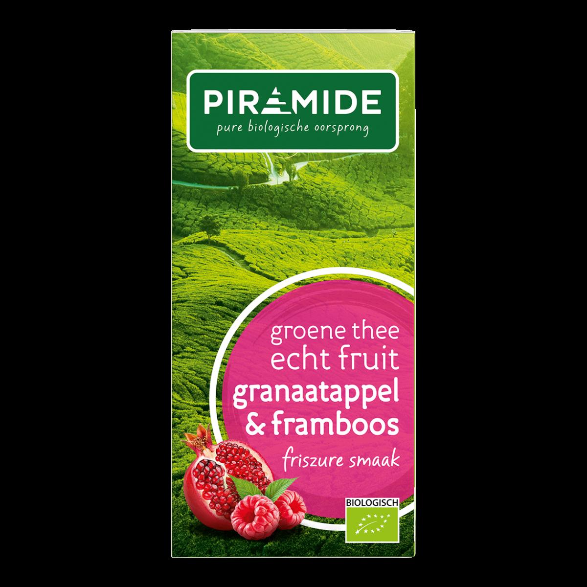 Groene Thee Granaatappel & Framboos