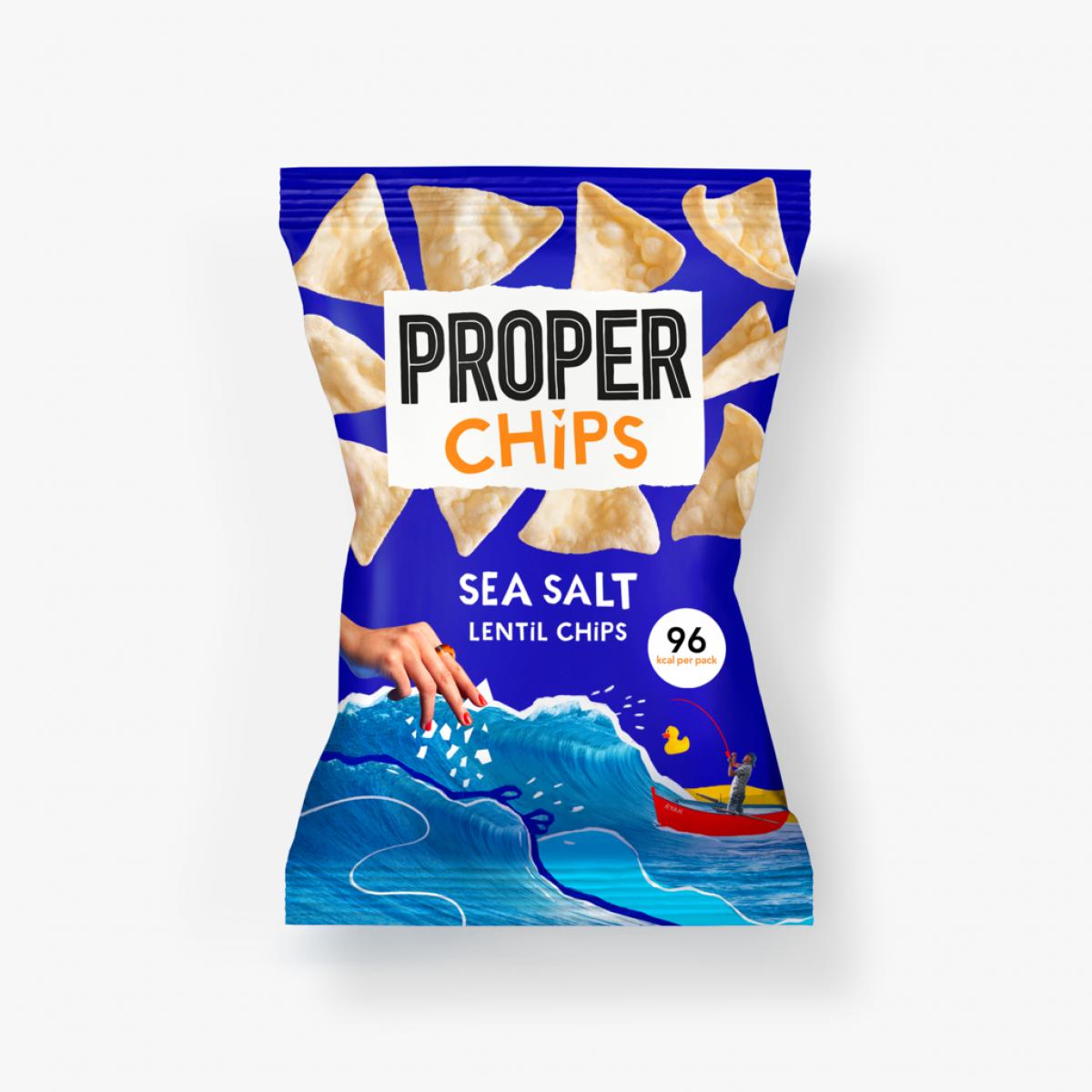 Linzen Chips Zeezout 85 gram