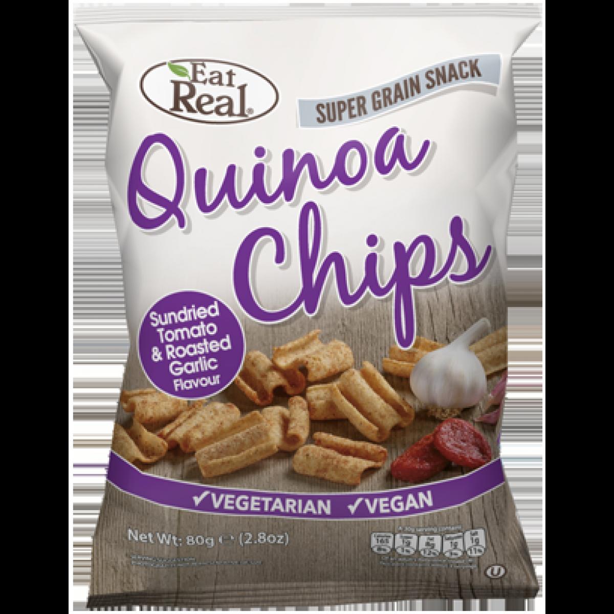 Quinoa Chips Tomaat & Knoflook Groot