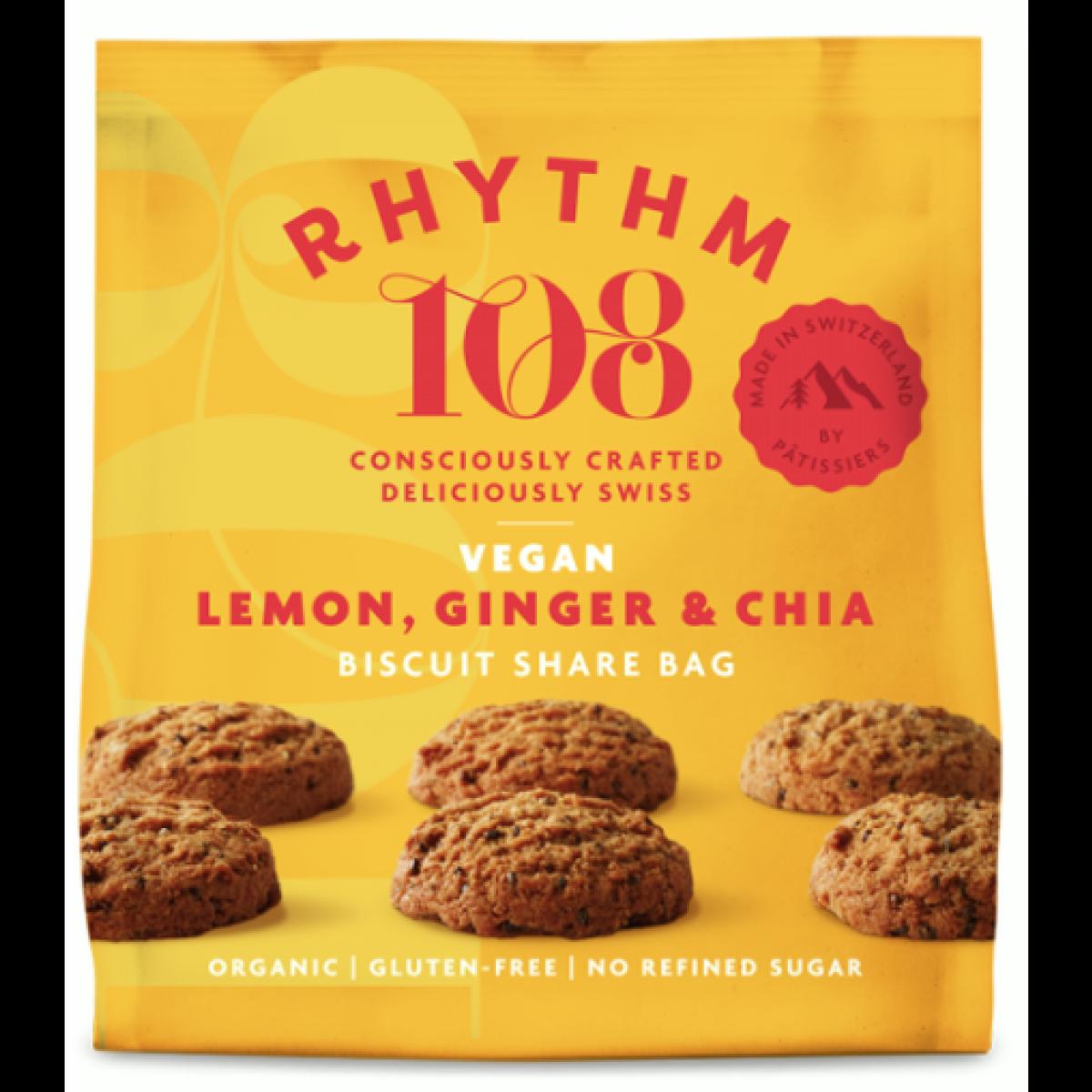 Lemon Ginger Chia Biscuits