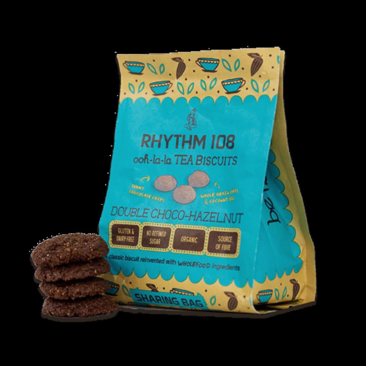 Double Choco Hazelnut Biscuits
