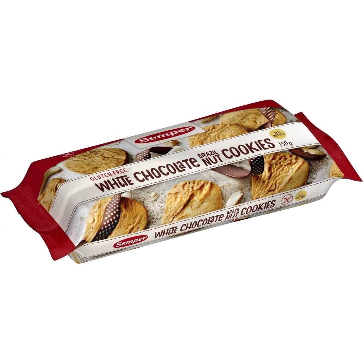 White Chocolate Brazilnut Cookies