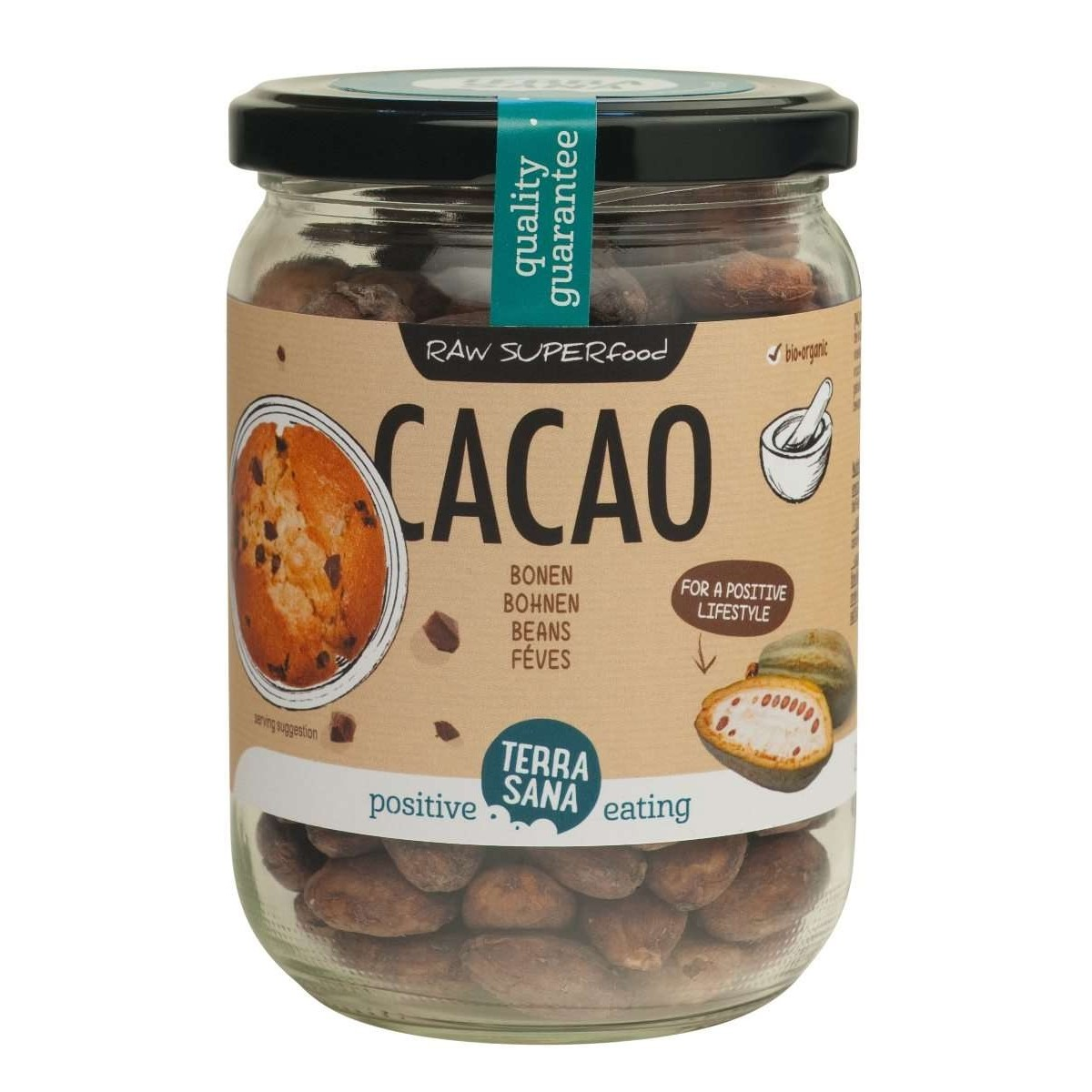 Cacaobonen (glas)