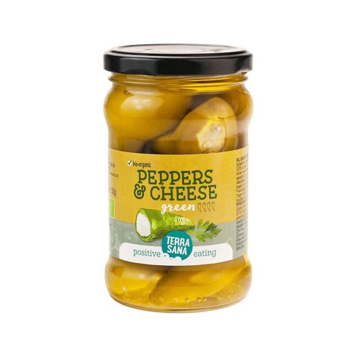 Groene Pepers Roomkaas