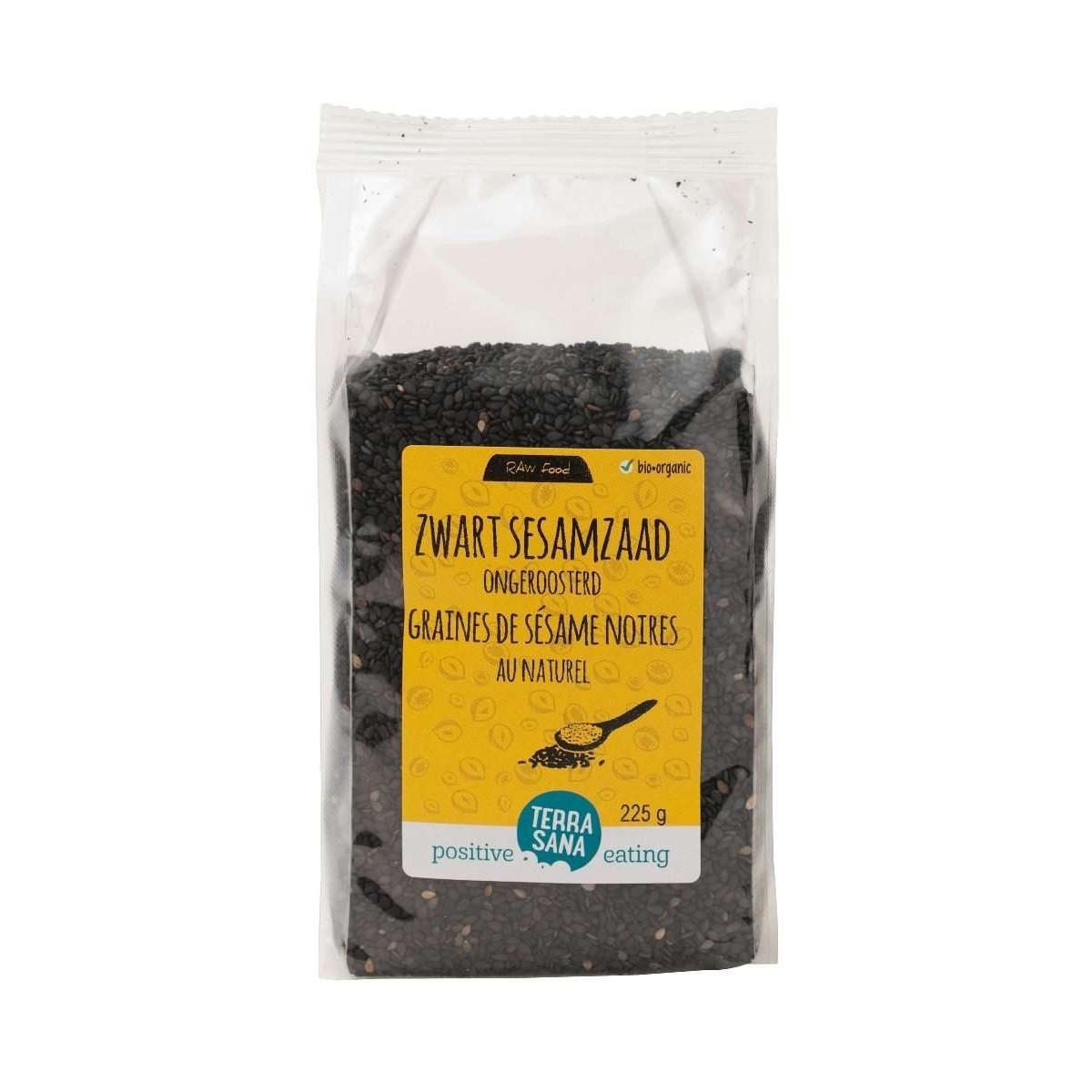 Sesamzaad Ongeroosterd Zwart 225 gram