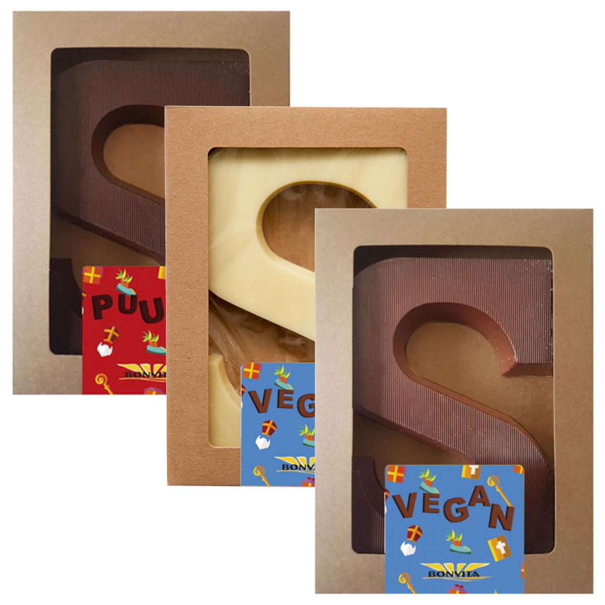 Vegan Chocoladeletter Proefpakket (3 soorten)